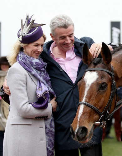 Michael O'Leary and his wife Anita with Don Poli