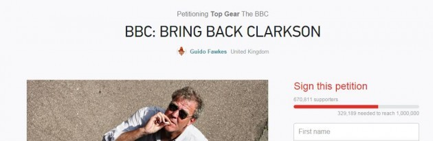 jeremy clarkson petition