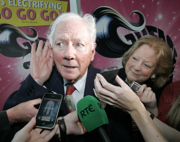 File Photo: Gay Byrne, Chairman of the Road Safety Authority, while being interviewed on RTE today in relation to the penalty points issue, referred to the Garda as sometimes behaving like a secret society.