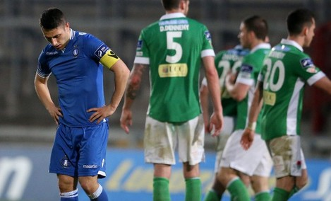 Shane Duggan dejected at the final whistle