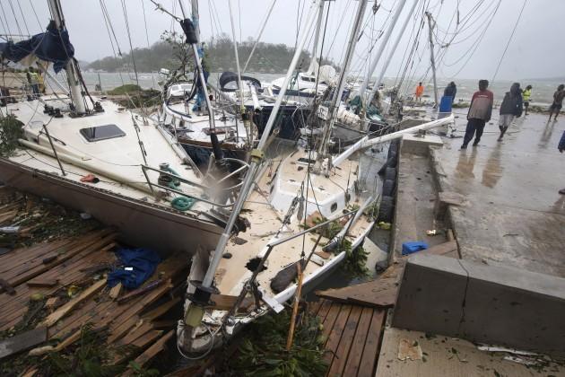 APTOPIX Vanuatu Cyclone Pam