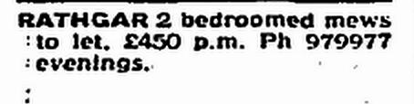 rathgar advert - june 1991