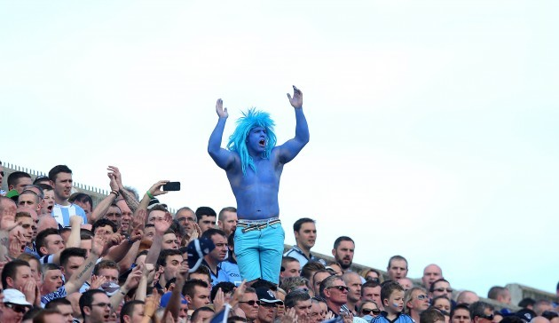 A Dublin supporter on Hill 16