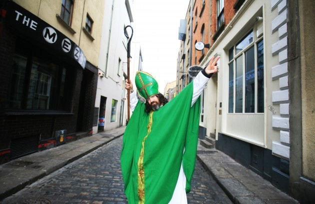 St. Patrick's Day. People from all arou