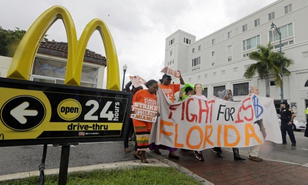 Fast Food Protests Miami