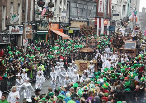 St Patricks Day Parade Dublin. Picture