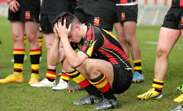 Peadar Collins dejected after the game