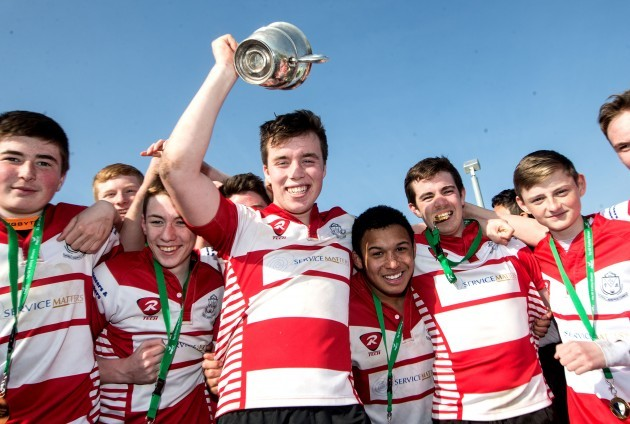 James Brandon celebrates with the trophy