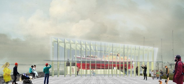 Artist's impression of the proposed temporary shelter