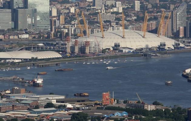 London aerial stock