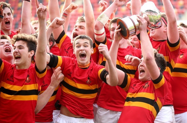 Eoin Monahan lifts the trophy