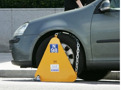 Cars Clamped