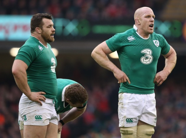 Cian Healy and Paul O'Connell