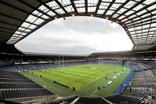 A general view of Murrayfield before the game