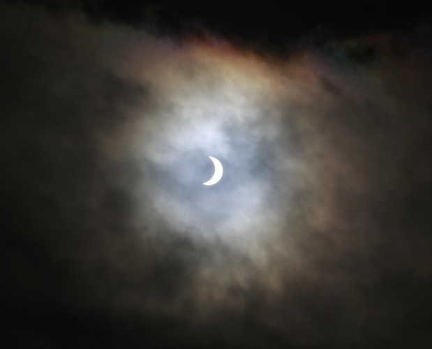 Eclipse taken in Rush County Dublin