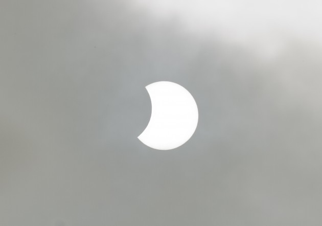 Solar Eclipse Over Dublin On March 20th 2015. Photograph by Paul