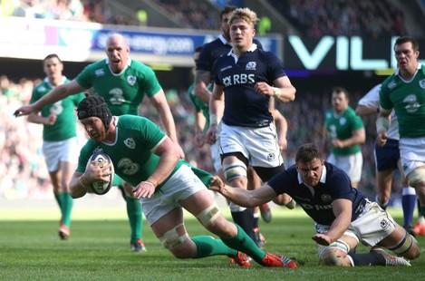 Sean O'Brien scores their second try