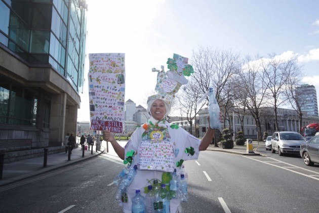 Water Protest. Pictured is Rita Lawlor be