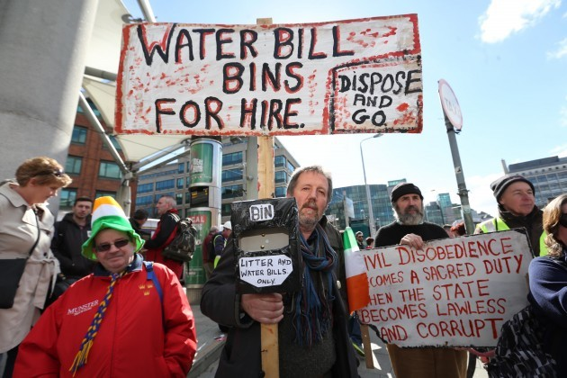 Water Protest. Pictured Dermot Hutchin