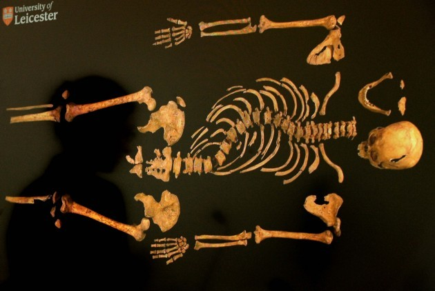 Archaeologists in Richard III dig