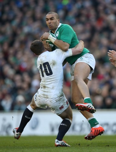 Ireland's Simon Zebo is tackled by EnglandÕs George Ford 1/3/2015