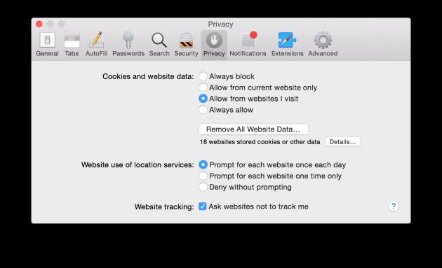 Safari Privacy