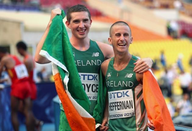 Robert Heffernan alongside Brendan Boyce 14/8/2013