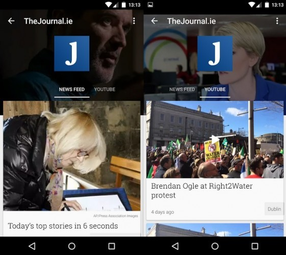 Google Newsstand TheJournal.ie