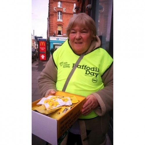 This is Olive Wilkinson's 25th #DaffodilDay.What an amazing achievement!Thanks so much to Olive and all our volunteers selling daffs today