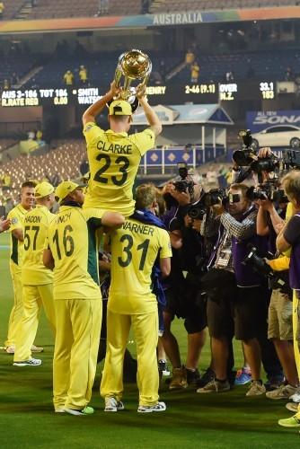 Michael Clarke celebrates winning