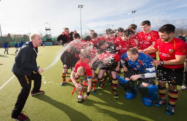 Banbridge celebrate winning the Irish Senior Cup