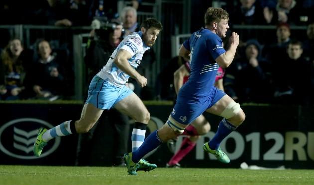 Jordi Murphy breaks free to score a try