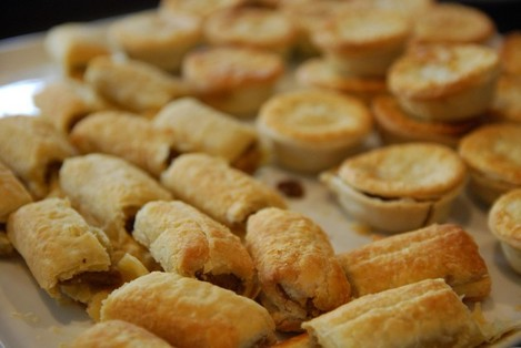 Mini Sausage Rolls and Party Pies