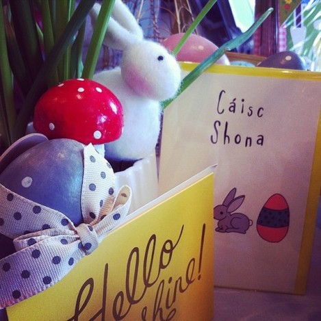 Is it Easter yet??? Bunnies & chocolate what's not to love :) #easter #bunny #egg #toadstool #daffodil #MossCottage #LovelyThingsInside #Dundrum
