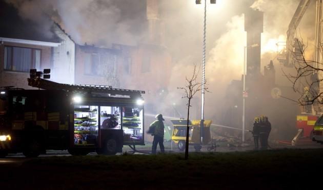 Dramatic night scenes as emergency serv