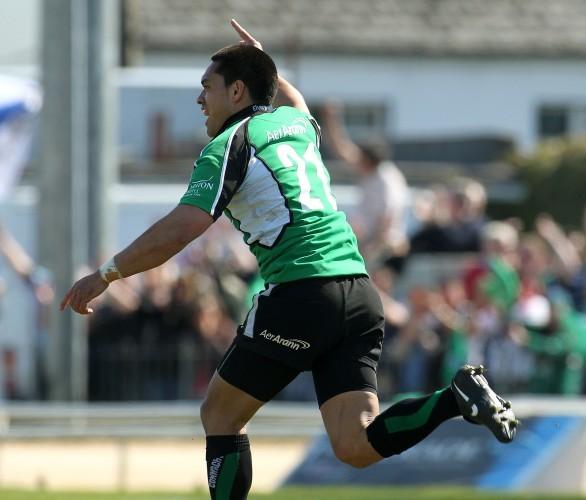 Miah Nikora celebrates after kicking the winning drop goal