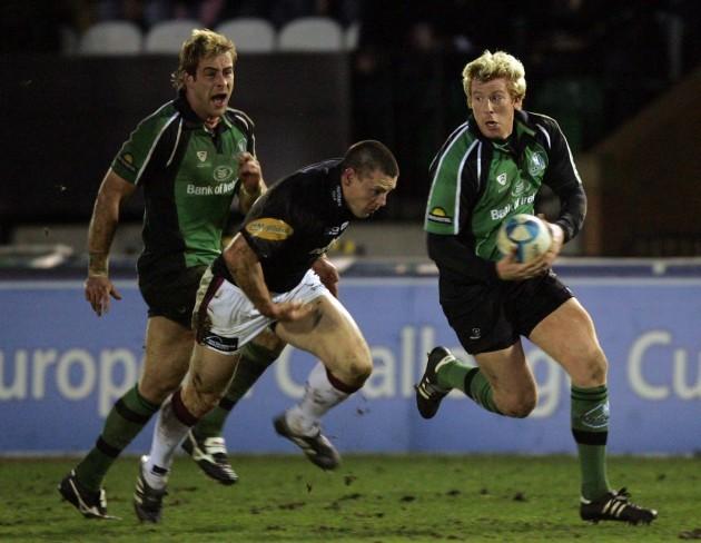 Mark McHugh gets past Matthew Burke