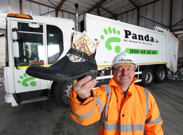 Panda worker finds €1,500 in recycling skip 101
