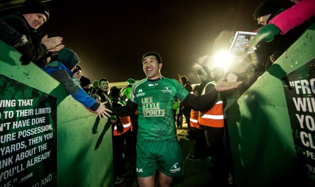 Mils Muliaina celebrates after the game