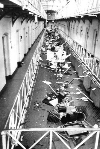 British Crime - Prison - Riots - Strangeways - Manchester - 1990