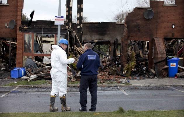 Newbridge Fire. The row of houses in Mil