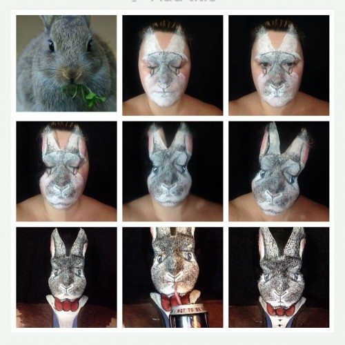 #easterbunny #rabbits #mua #facepaint #pictorial #dietcokebreak