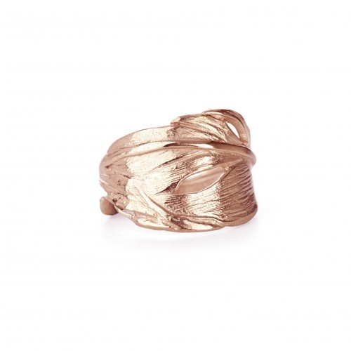 Chupi Ring Rose Gold Swan Feather 1
