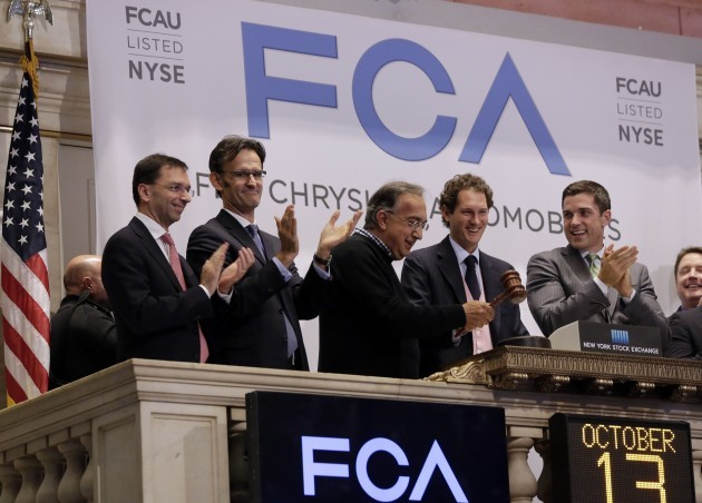 Financial Markets Wall Street Fiat Chrysler Stock
