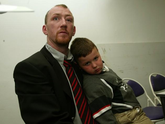 Trevor Brennan with his son Daniel