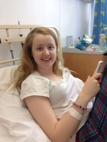 Claire Dolan, after her kidney transplant operation at Beaumont Hospital