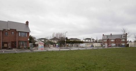 Newbridge Fire Remains. Six garden sheds