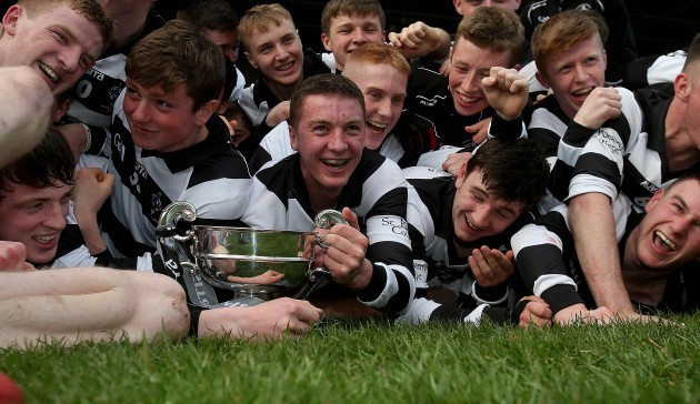 The Kieran's team celebrate with the cup