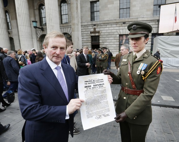 Easter Rising Commemoration. Taoiseach