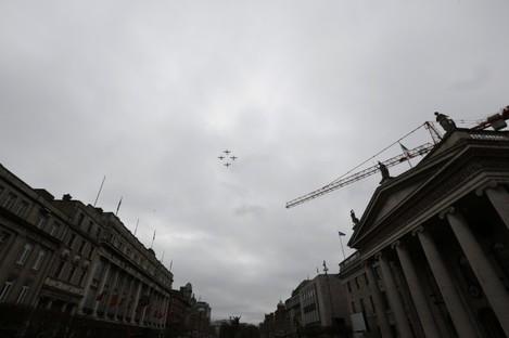 Member of the Irish Air Corps at the 9